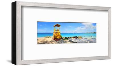Lifeguard Station on the Beach between Miami Beach and Enterprise Beach in Oistins--Framed Art Print