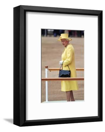 Queen Elizabeth II at her Annual Birthday Parade Trooping the Colour--Framed Art Print