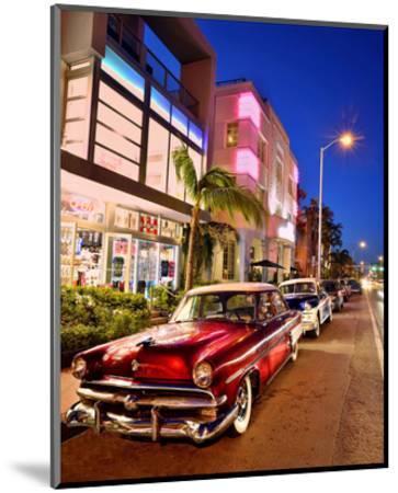 Dodge Classic Car on Collins Avenue, Miami Beach in Miami, Florida, USA--Mounted Art Print