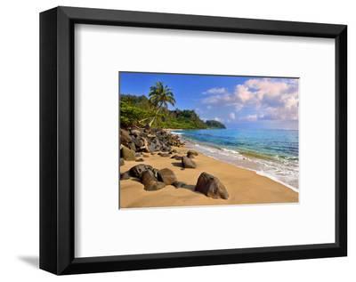 Lumahai Beach near Hanalei, Island of Kauai, Hawaii, USA--Framed Art Print