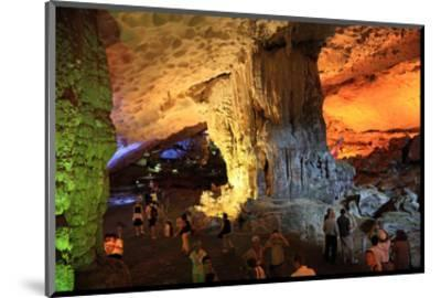 In the Cave of Awe Hang Sung Sot Grotto in Ha Long Bay, North Vietnam, Quang Ninh, Vietnam--Mounted Art Print
