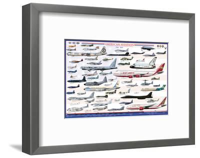 American Aviation: Modern Era, 1946-2010--Framed Art Print