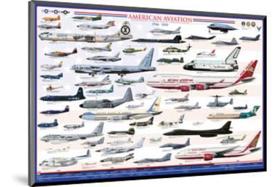 American Aviation: Modern Era, 1946-2010--Mounted Art Print