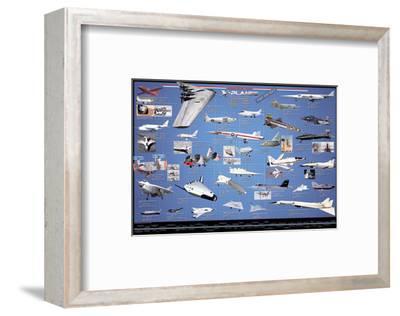 American Aviation - X-Planes--Framed Art Print