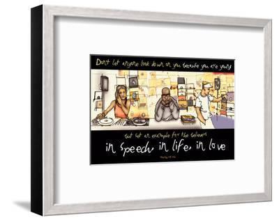 In Speech, In Life, In Love--Framed Art Print