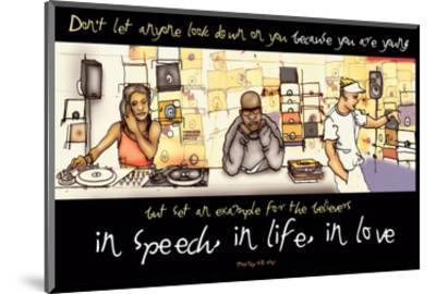 In Speech, In Life, In Love--Mounted Art Print