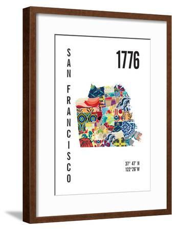 San Francisco-J Hill Design-Framed Giclee Print