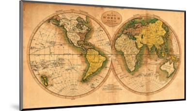 A Map of the World from the Best Authorities - The Track of Captain Cook--Mounted Art Print
