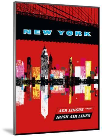 New York, USA Aer Lingus Irish Air Lines - Manhattan Skyline--Mounted Art Print