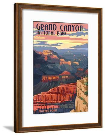 Grand Canyon National Park - Mather Point--Framed Poster