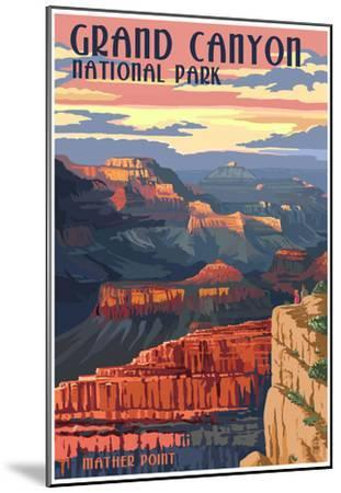 Grand Canyon National Park - Mather Point--Mounted Poster