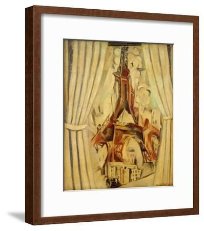 Eiffel Tower with Curtains, 1910-Robert Delaunay-Framed Giclee Print