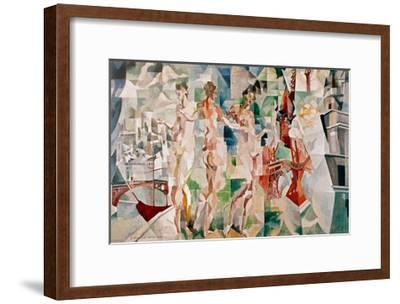 La Ciudad de Paris, 1910-Robert Delaunay-Framed Giclee Print