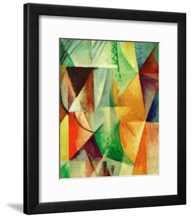 A Window, Study for 'The Three Windows', 1912/13-Robert Delaunay-Framed Giclee Print
