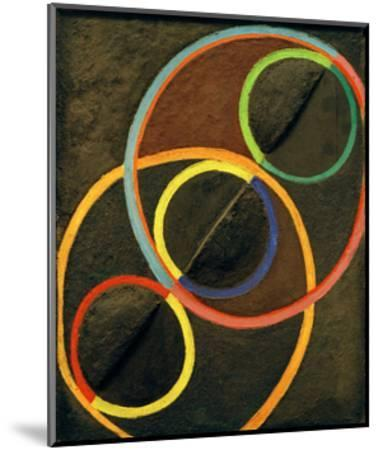 Black Relief with Colour Circles, 1930/32-Robert Delaunay-Mounted Giclee Print