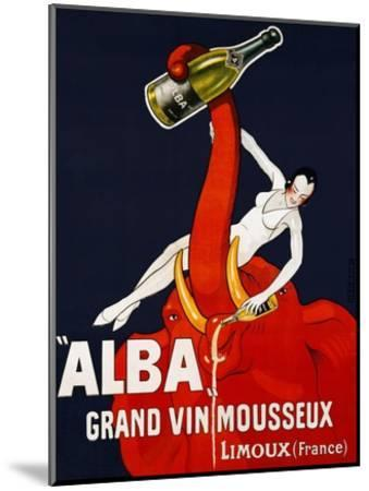 Alba Grand Vin Mousseux, ca. 1928-Andre-Mounted Art Print