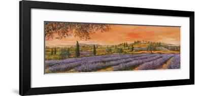 Filari di Lavanda-Tebo Marzari-Framed Art Print