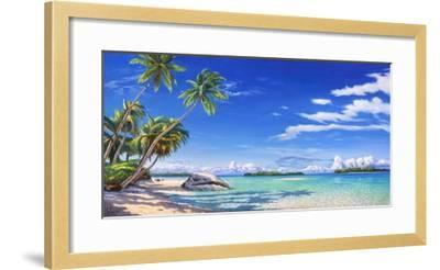 Spiaggia tropicale-Adriano Galasso-Framed Art Print