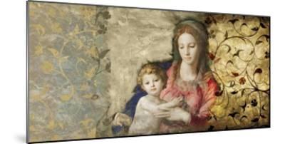 Virgin Mary (After Bronzino)-Simon Roux-Mounted Art Print