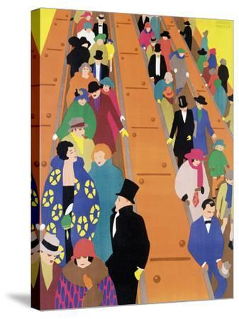 Brightest London is Best Reached by Underground, 1924-Horace Taylor-Stretched Canvas Print