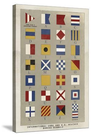 Nautical Flags-Ken Hurd-Stretched Canvas Print