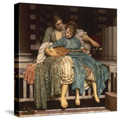 The Music Lesson-Frederick Leighton-Stretched Canvas Print