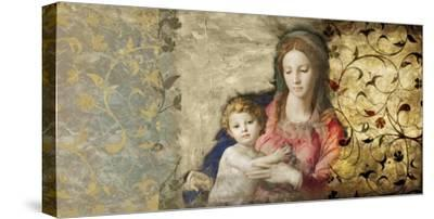 Virgin Mary (After Bronzino)-Simon Roux-Stretched Canvas Print