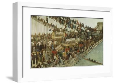 Hammersmith Bridge on Boat Race Day, 1862-Walter Greaves-Framed Premium Giclee Print