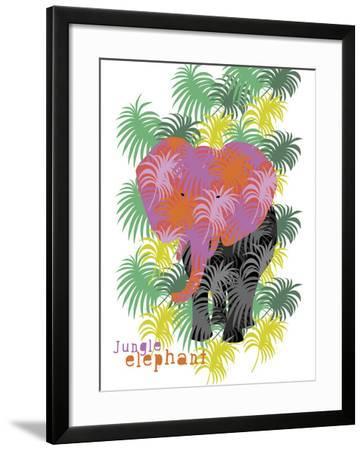 Jungle Elephant-Laure Girardin-Vissian-Framed Giclee Print