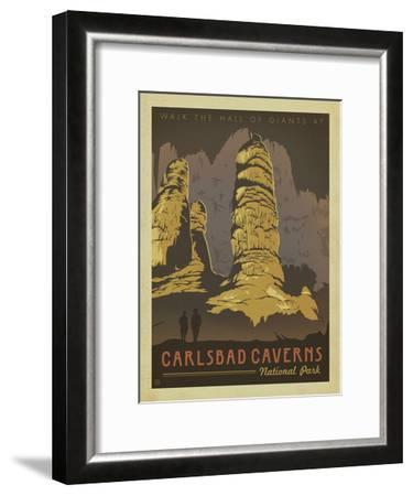 Carlsbad Caverns National Park-Anderson Design Group-Framed Art Print