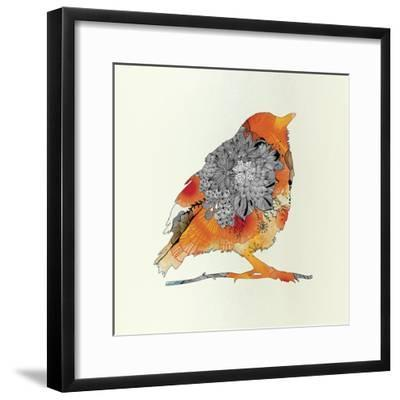 Orange Bird-Iveta Abolina-Framed Art Print