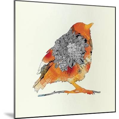 Orange Bird-Iveta Abolina-Mounted Art Print