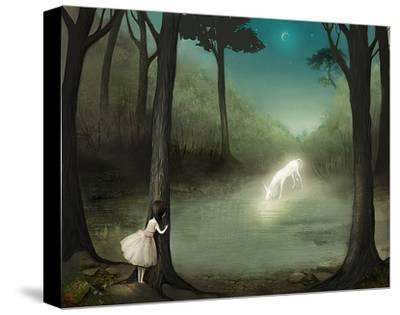 No One Would Ever Believe Her-Meluseena-Stretched Canvas Print
