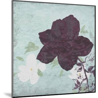 Floral Bird Triptych-Taylor Greene-Mounted Art Print
