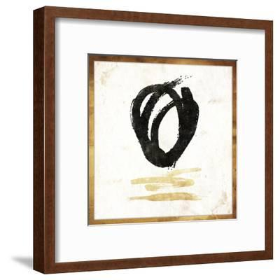Gold Abstract-Jace Grey-Framed Art Print