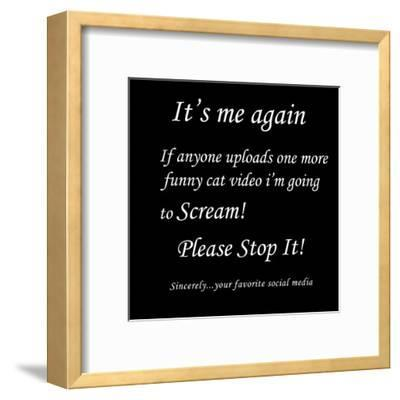 Stupid Post 3-Sheldon Lewis-Framed Art Print