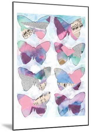 Butterfly Windows 1-Beverly Dyer-Mounted Art Print