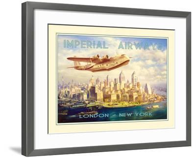 Imperial Airways - London to New York-The Vintage Collection-Framed Photographic Print