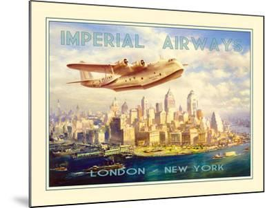 Imperial Airways - London to New York-The Vintage Collection-Mounted Photographic Print