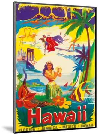 Hawaii, The Island State-B?rge Larsen-Mounted Art Print