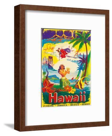 Hawaii, The Island State-B?rge Larsen-Framed Art Print