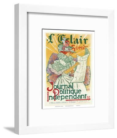 L'Éclair, Journal Politique Indépendant, Art Nouveau, La Belle Époque-H^ Thomas-Framed Art Print