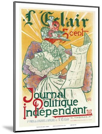 L'Éclair, Journal Politique Indépendant, Art Nouveau, La Belle Époque-H^ Thomas-Mounted Art Print