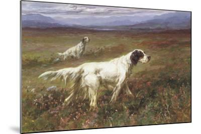 Setters on the Moors-Maud Earl-Mounted Giclee Print
