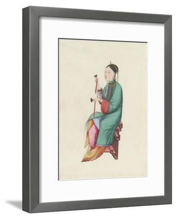Musican II- Oriental School-Framed Premium Giclee Print