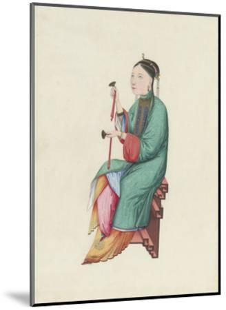 Musican II- Oriental School-Mounted Premium Giclee Print