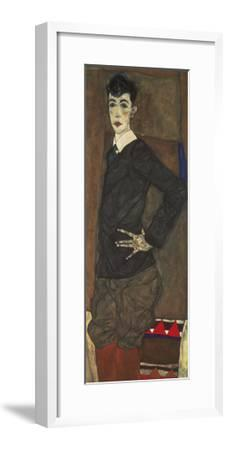 Portrait of Erich Lederer-Egon Schiele-Framed Premium Giclee Print
