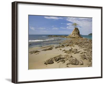 Point with tree on Penca Beach, Costa Rica-Tim Fitzharris-Framed Art Print