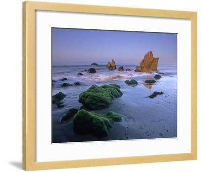 Seastacks on El Matador State Beach, Malibu, California-Tim Fitzharris-Framed Art Print