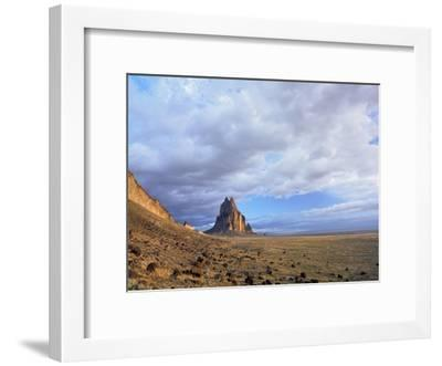 Shiprock, the basalt core of an extinct volcano, New Mexico-Tim Fitzharris-Framed Art Print